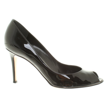 Gianvito Rossi Lackleder-Pumps in Schwarz