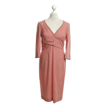 Rena Lange Kariertes Kleid in Rot/Weiss