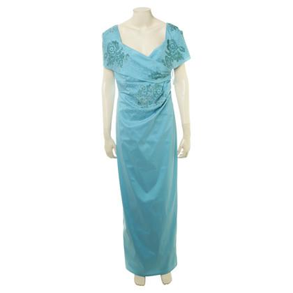 Talbot Runhof Evening dress in turquoise-blue
