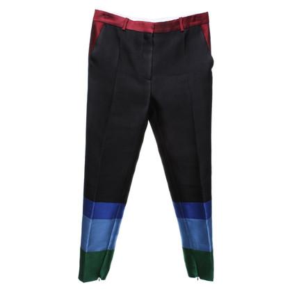 Céline Pantaloni con blocchi di colore