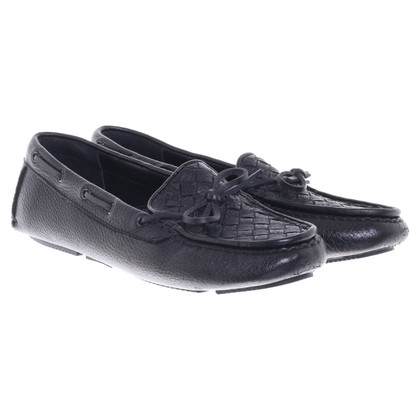 Bottega Veneta Moccasins in black