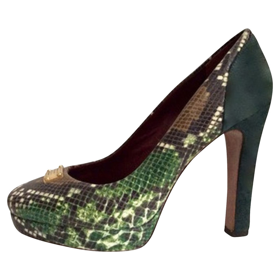 Marc Jacobs pumps from python leather