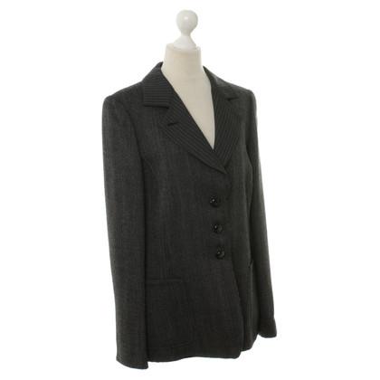 Armani Collezioni Blazer met visgraat patroon