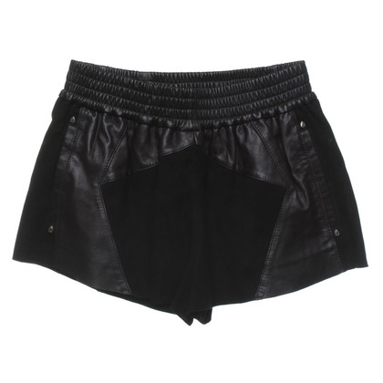 Faith Connexion Leather shorts in black