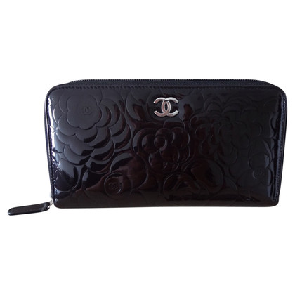 "Chanel ""Camelia Zip Wallet"" Patent Leather"