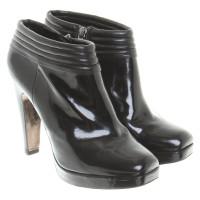 Hugo Boss stivali di pelle di brevetto