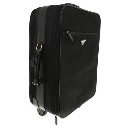 Prada Travel suitcase in black
