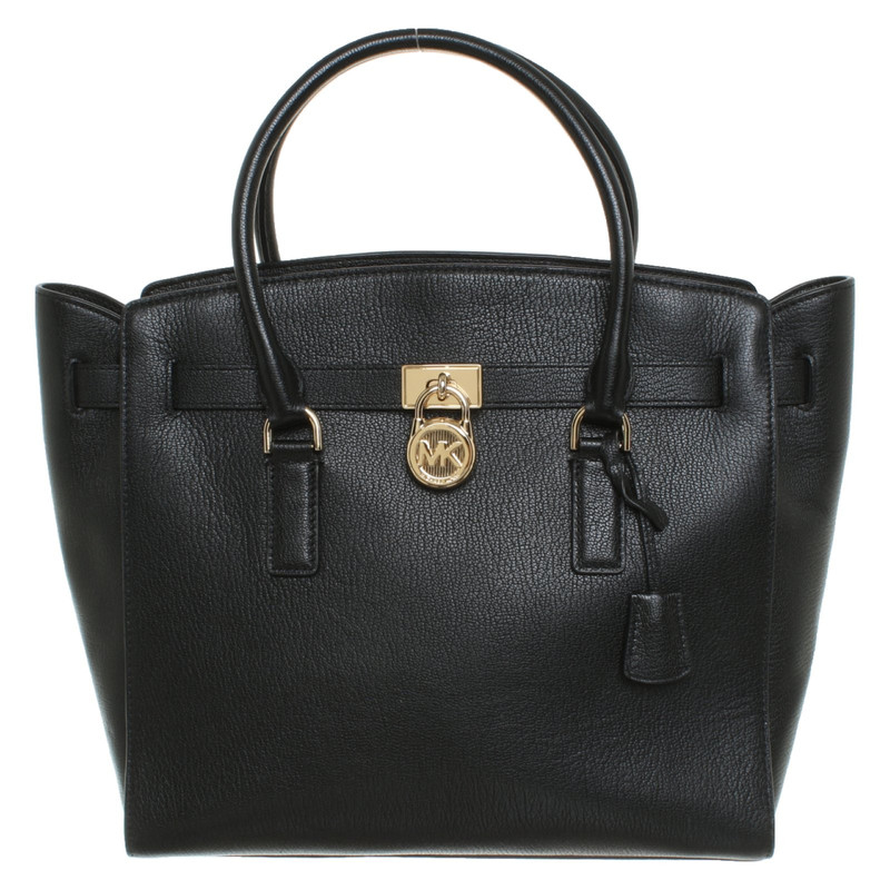 Michael Kors Handbag Leather in Black Second Hand Michael
