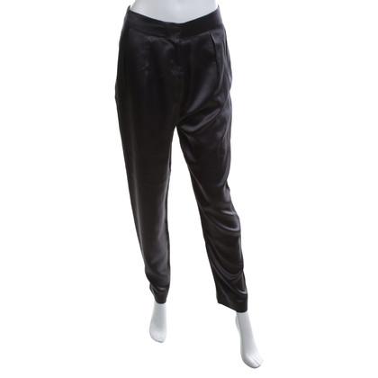 Acne Silk broek in grijs