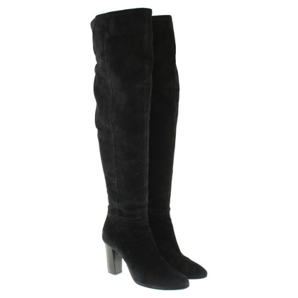 Marc Cain Suede overknees in black
