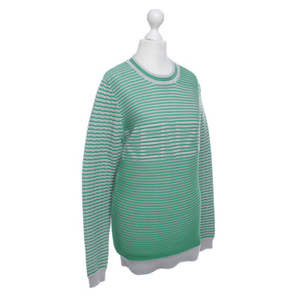 Kenzo Striped sweater in green and gray