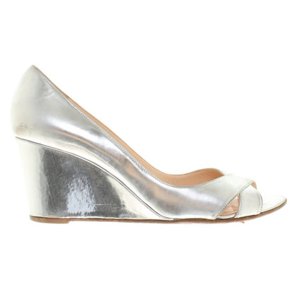 Christian Louboutin Silver colored peeptoes