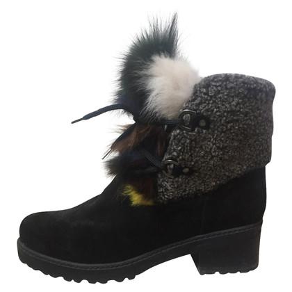 Stuart Weitzman Ankle boots with fur trim
