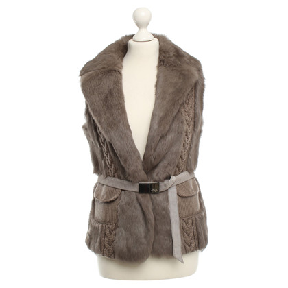 Liu Jo Fur Vest in Taupe