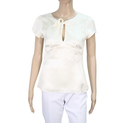 Hobbs Top in seta in Crema