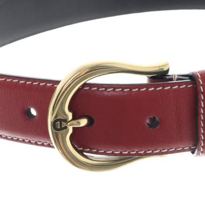 Aigner Belt in dark red