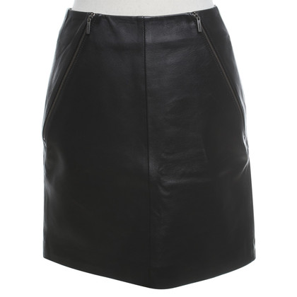 Karl Lagerfeld Leather skirt in black