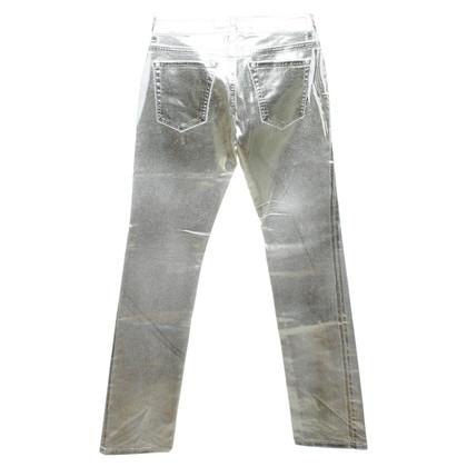 Blumarine Pantaloni in bianco / oro