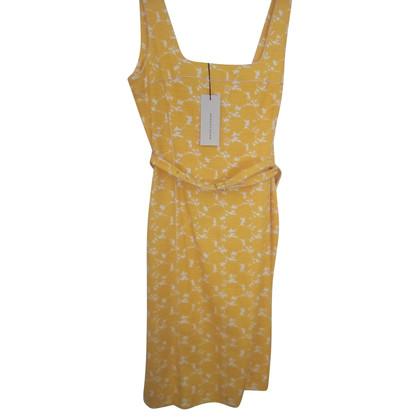 René Lezard Kleid in Gelb