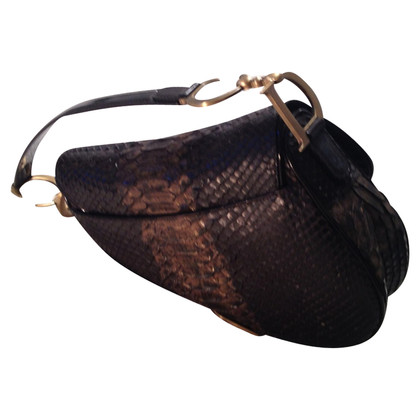 "Christian Dior ""Saddle Bag"" in pitone"
