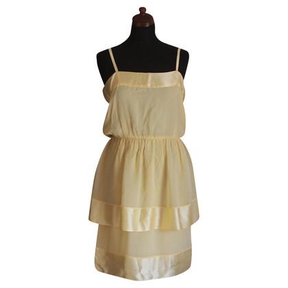 Chloé Gele zijden jurk