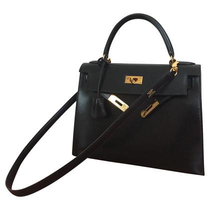 """Hermès """"Kelly Bag 28"""" in black"""