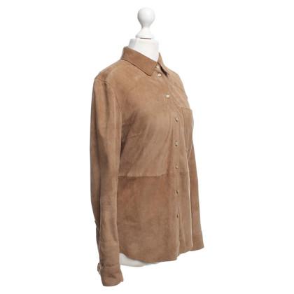 Set Suede blouse Camel