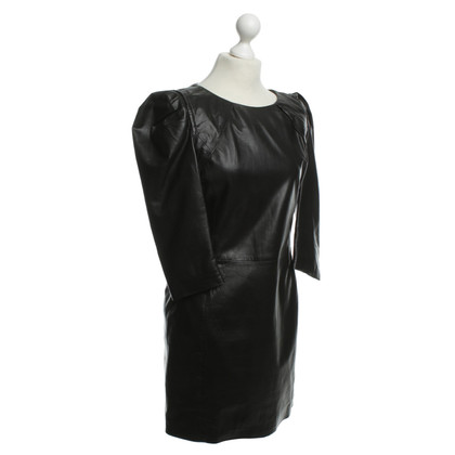 Maje Leather dress in black