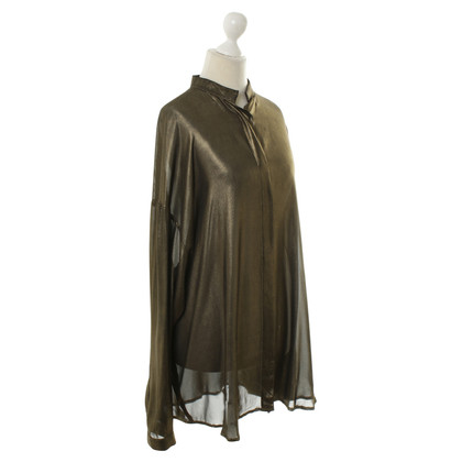 Haider Ackermann Breed blouse in metalen