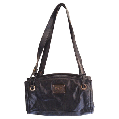 D&G Black leather handbag