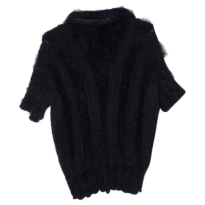 Chanel Short-sleeved pullover with angora content