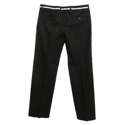 Dolce & Gabbana Pinstripe trousers in black