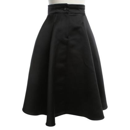Elisabetta Franchi Midi Rok in zwart