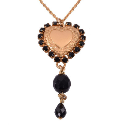 "Dolce & Gabbana Heart ""Pizzo Nero"" necklace"