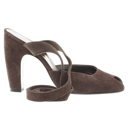 Miu Miu Peeptoes in Brown
