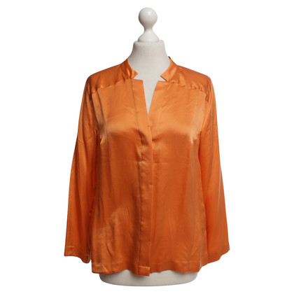 René Lezard Silk blouse in orange