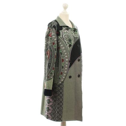 Etro Printed sweater coat wool