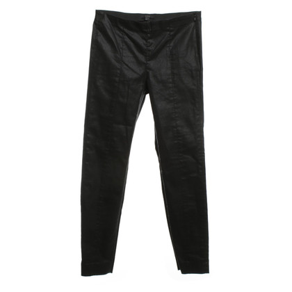 Cos Coated trousers in black