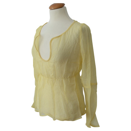 Costume National Transparent blouse silk