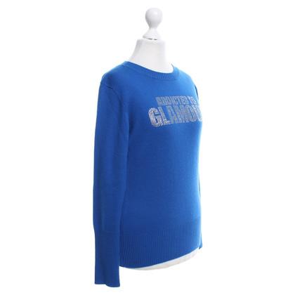 Andere Marke e.vil - Blauer Pullover mit Schmucksteinen