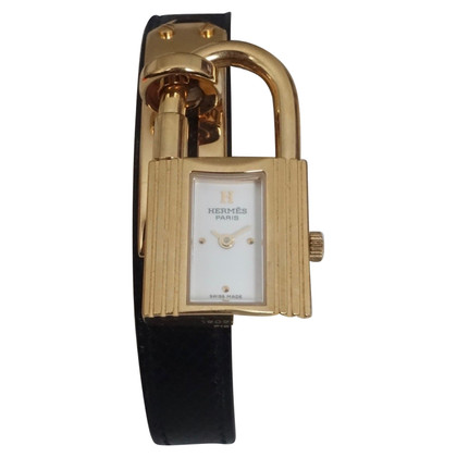 "Hermès ""Kelly PM Gold Plated Steel Watch"""