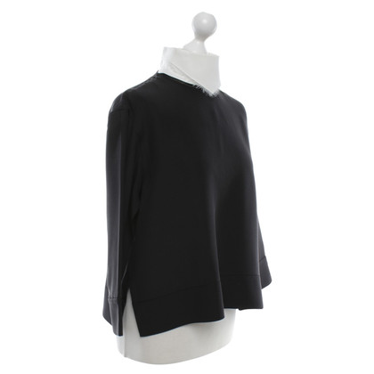 Céline top in black and white