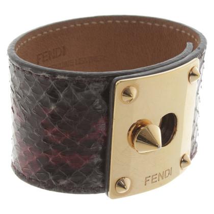 Fendi Armband aus Schlangenleder