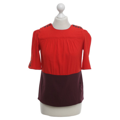 Marc by Marc Jacobs Blouse in rood / paars