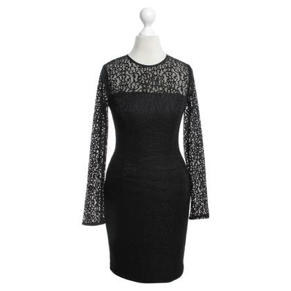 Reiss Lace dress in black