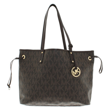 Michael Kors Jet Set Travel LG omkeerbare Tote Brown Sand