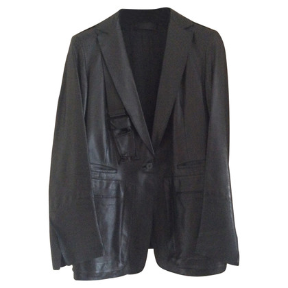 Donna Karan Leather jacket in black