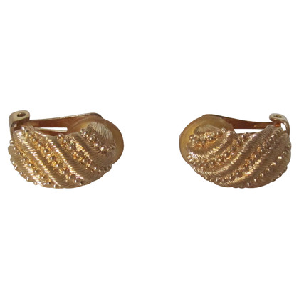 Christian Dior Gold plated earrings.