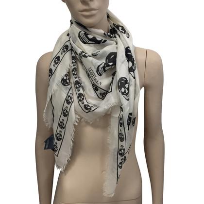Alexander McQueen Witte schedel sjaal