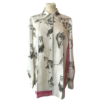 Céline Silk blouse with fox sprint